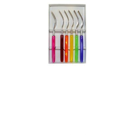 GRILLADE Coffret 6 fourchettes de table - Multicolore