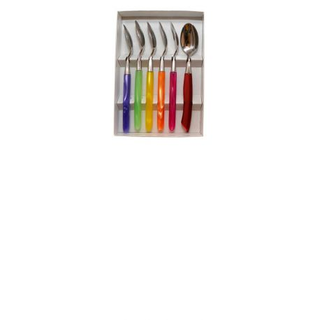 GRILLADE Box 6 teaspoons - Multicolor