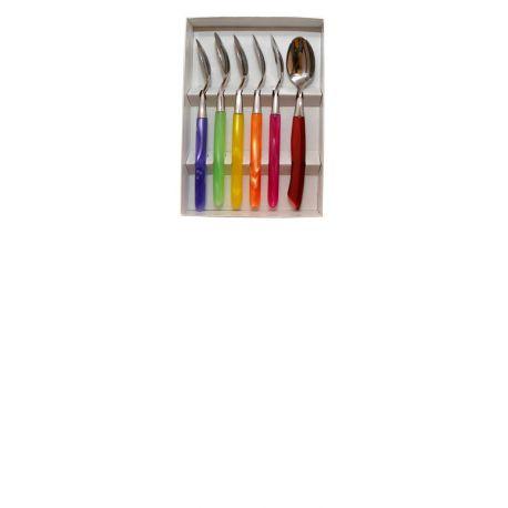 GRILLADE Coffret 6 Cuillères à cafés - Multicolore